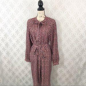 Ann Taylor Printed Shirt Dress